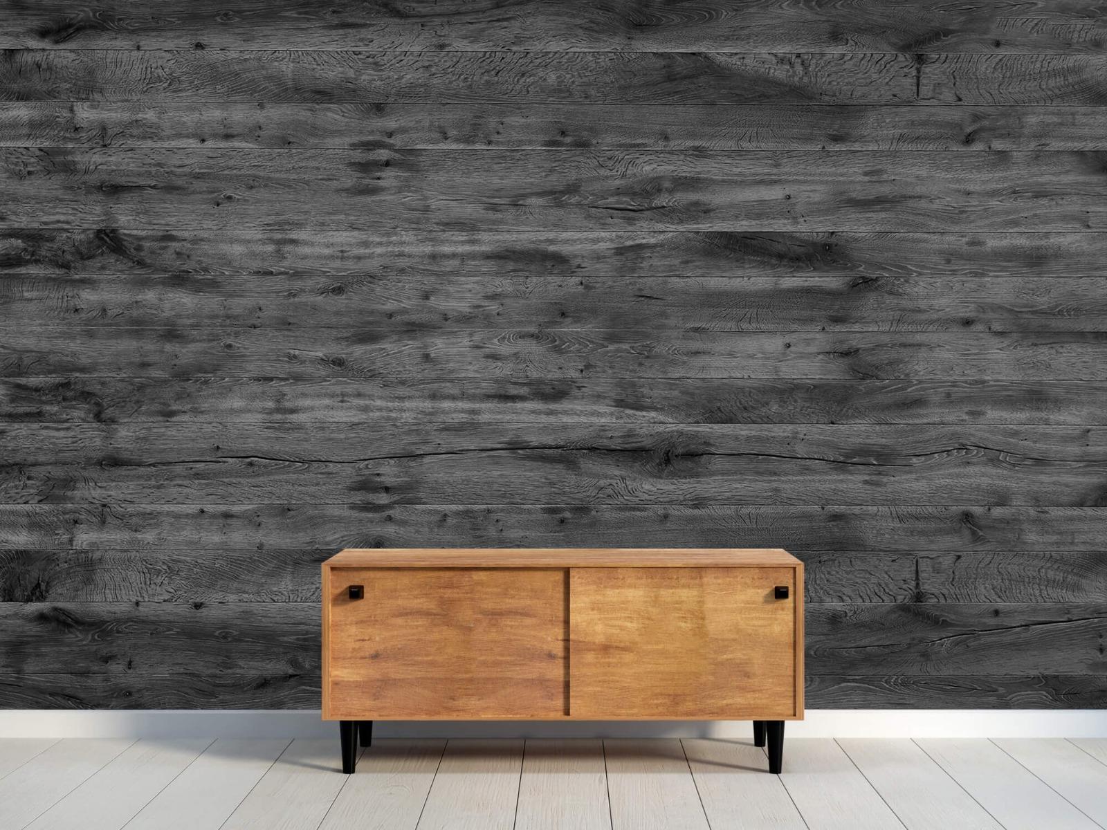 Hout behang - Grijze houten planken - Directie 11