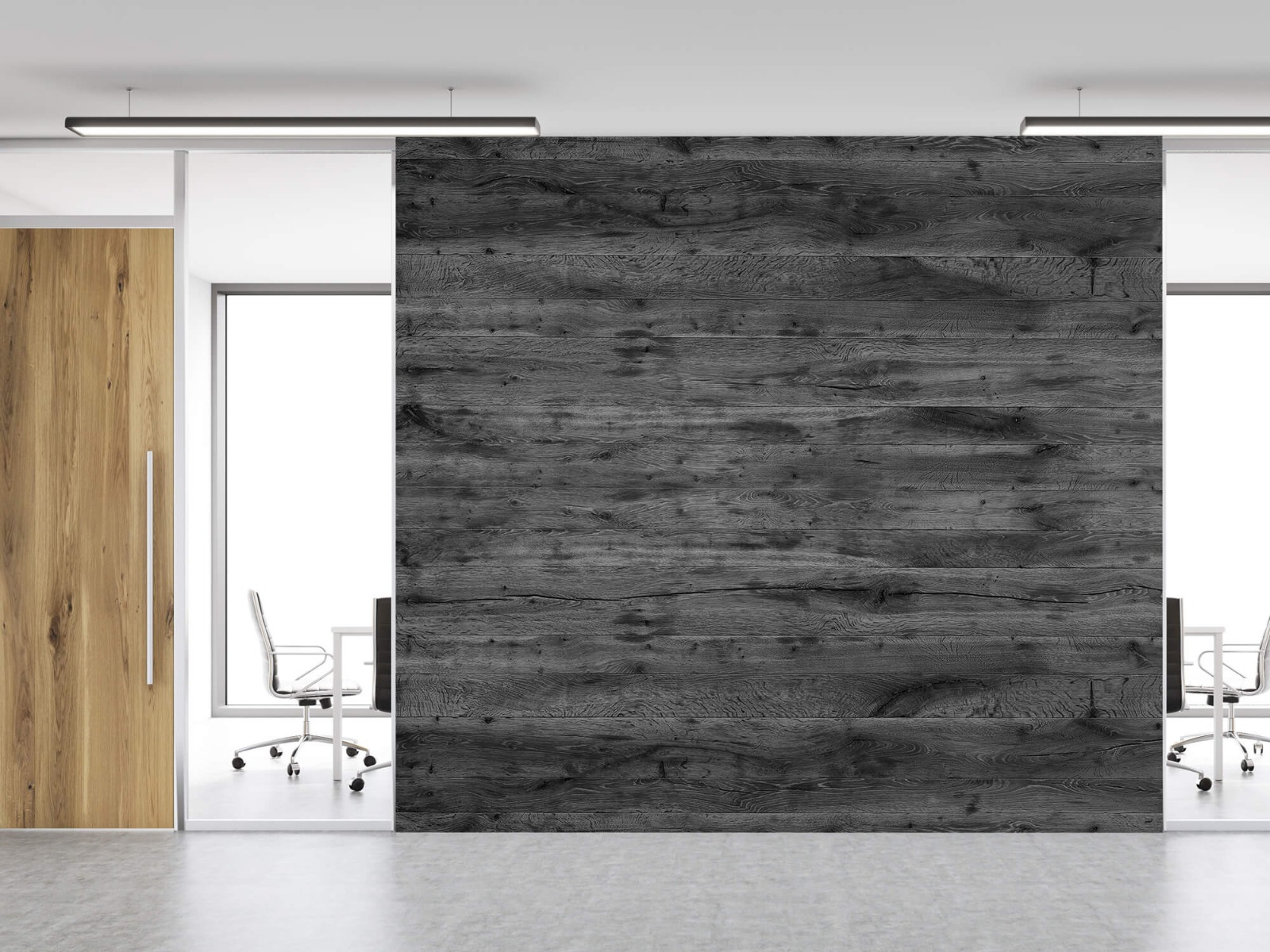 Hout behang - Grijze houten planken - Directie 13