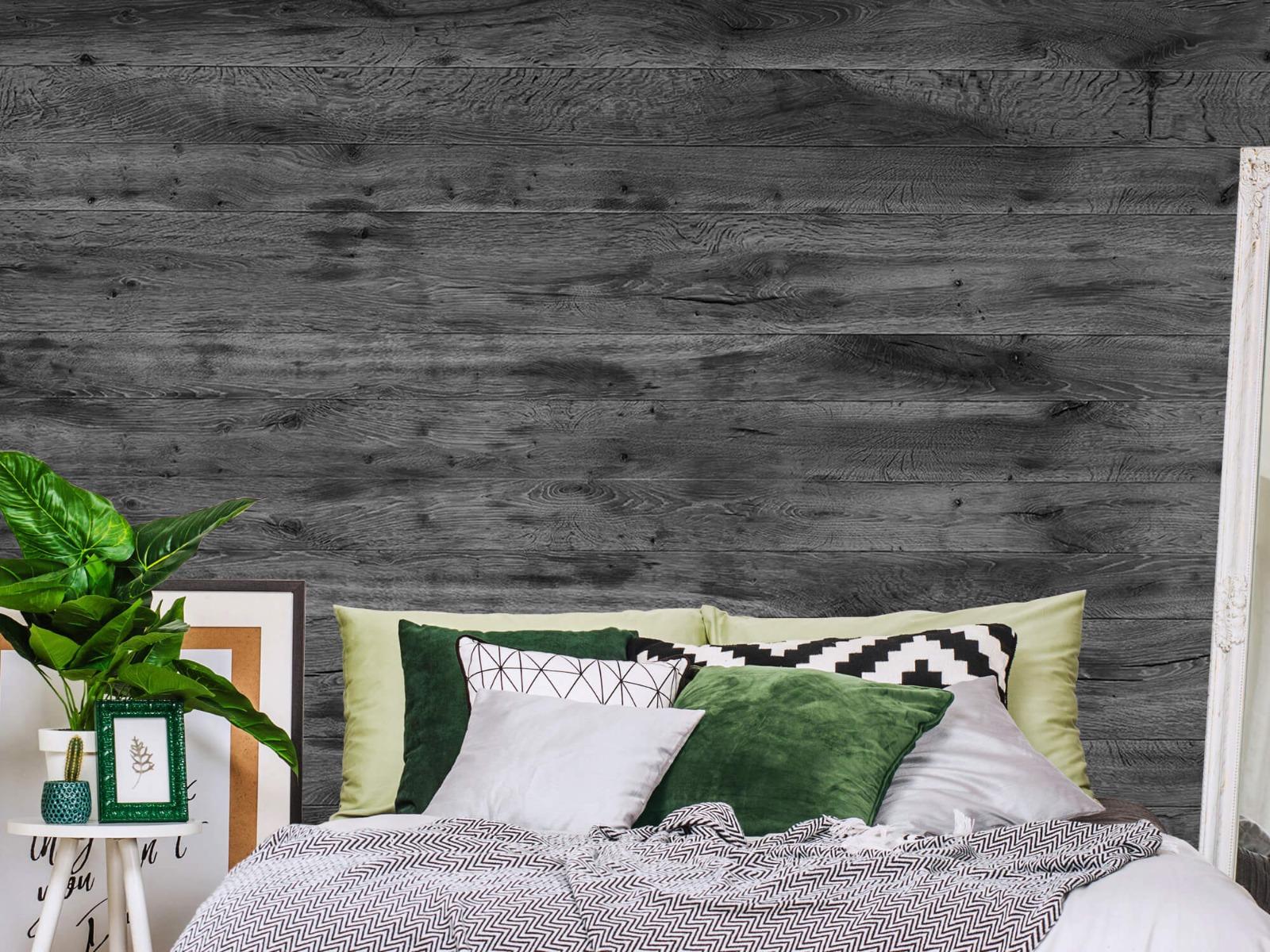 Hout behang - Grijze houten planken - Directie 14