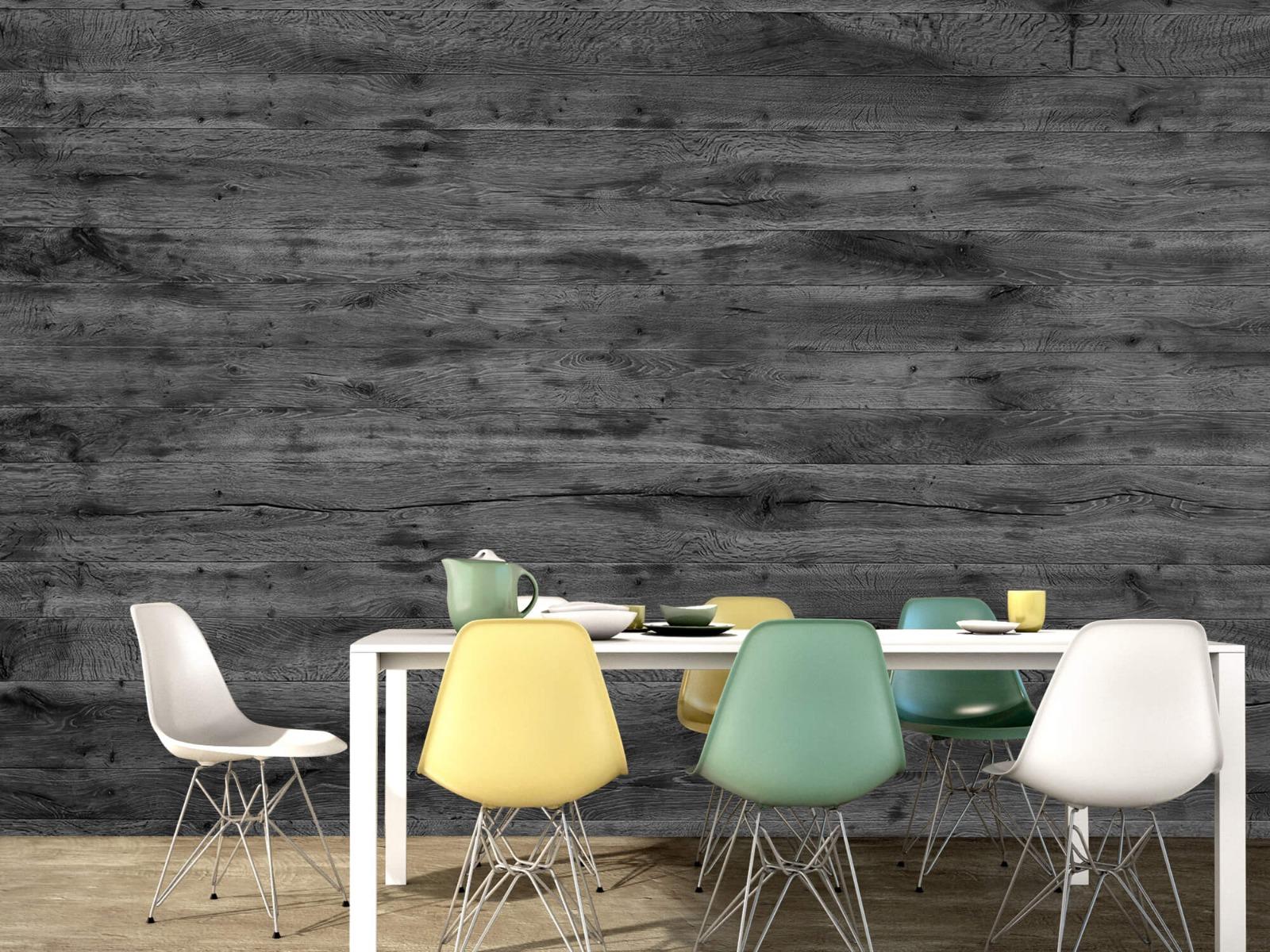 Hout behang - Grijze houten planken - Directie 17