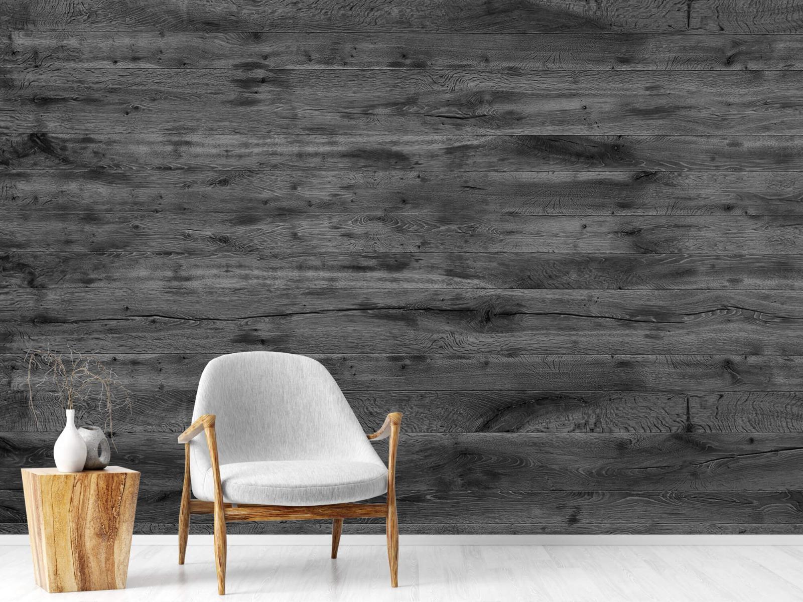 Hout behang - Grijze houten planken - Directie 19