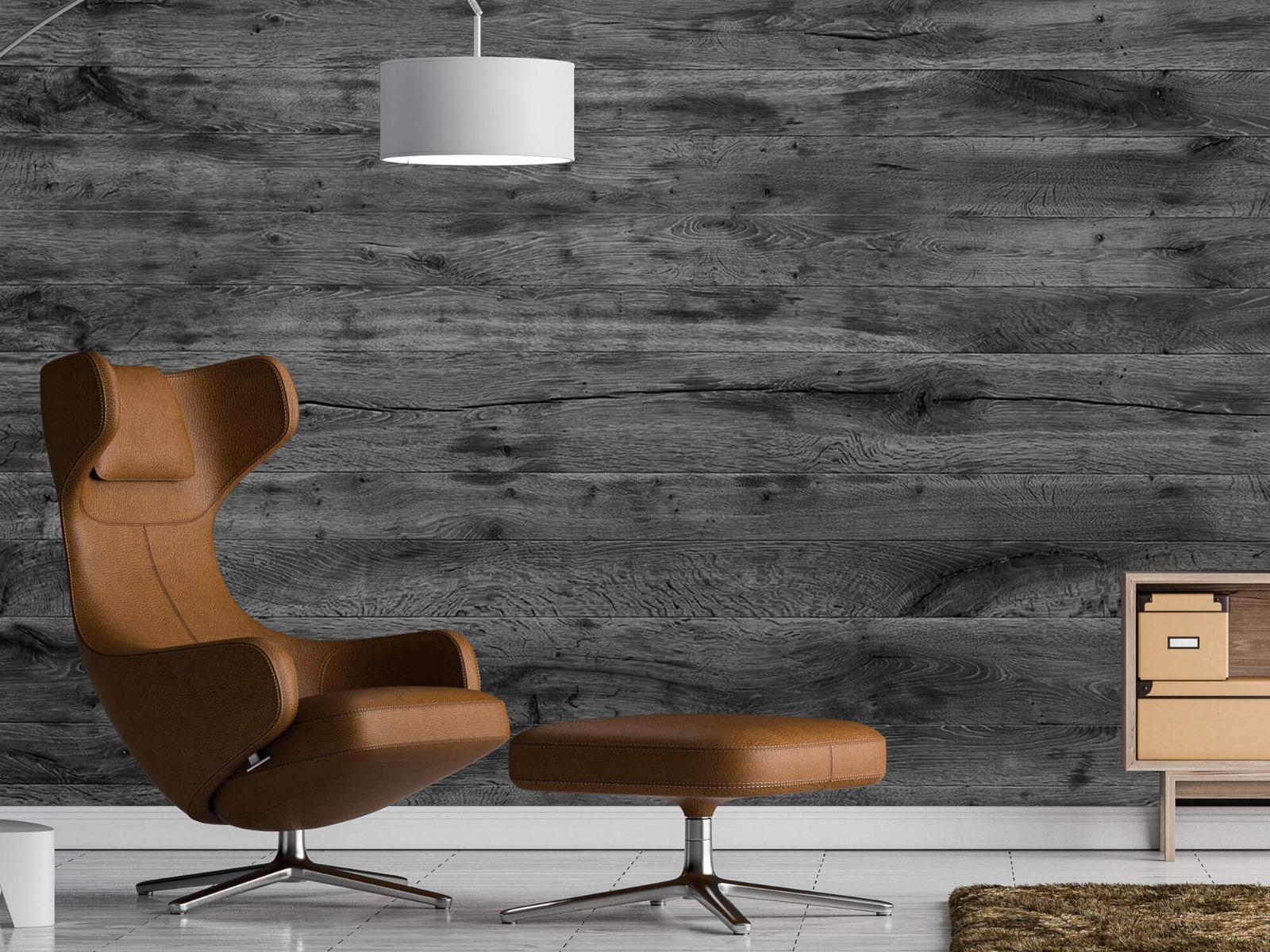 Hout behang - Grijze houten planken - Directie 20