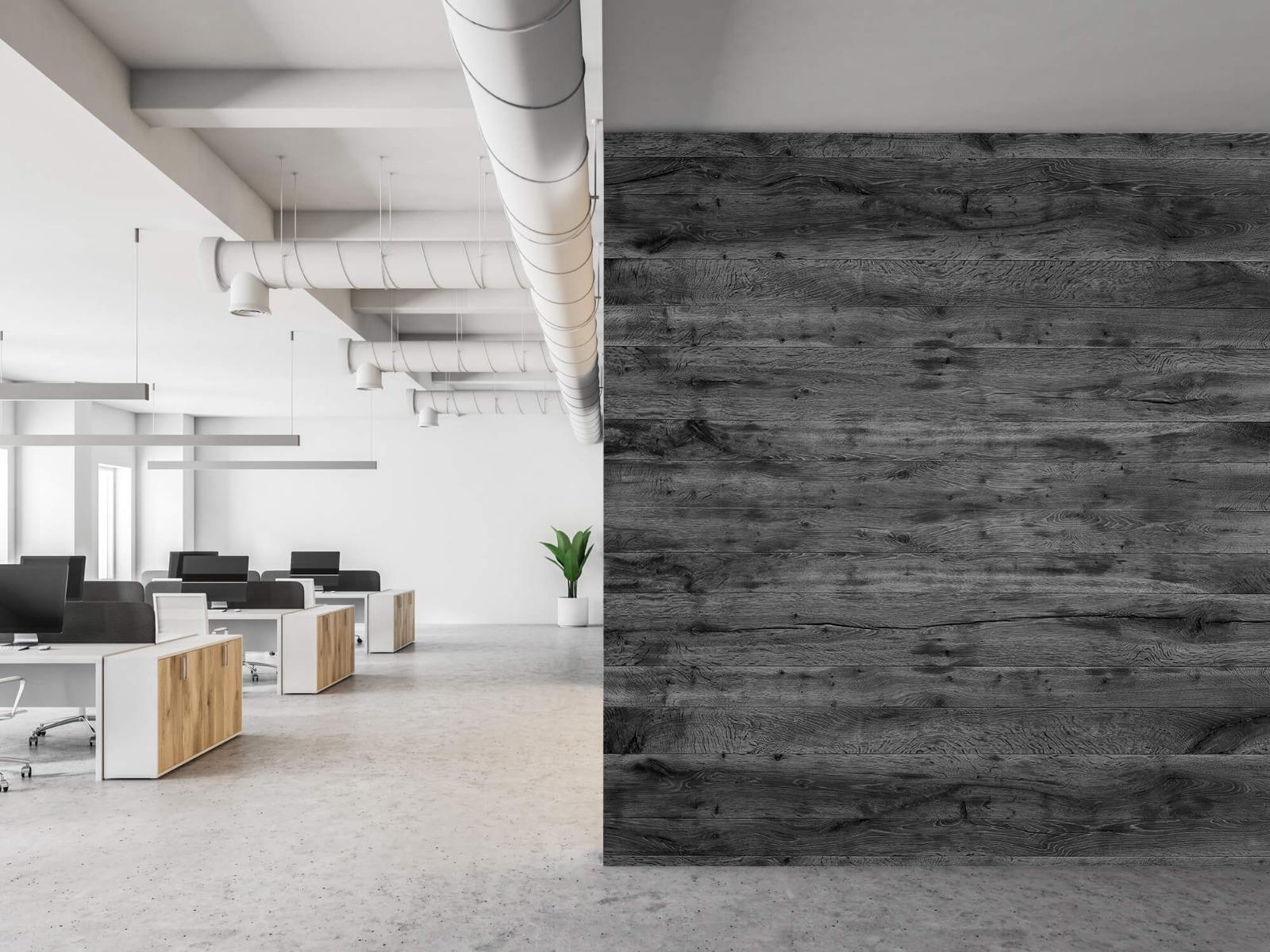 Hout behang - Grijze houten planken - Directie 22