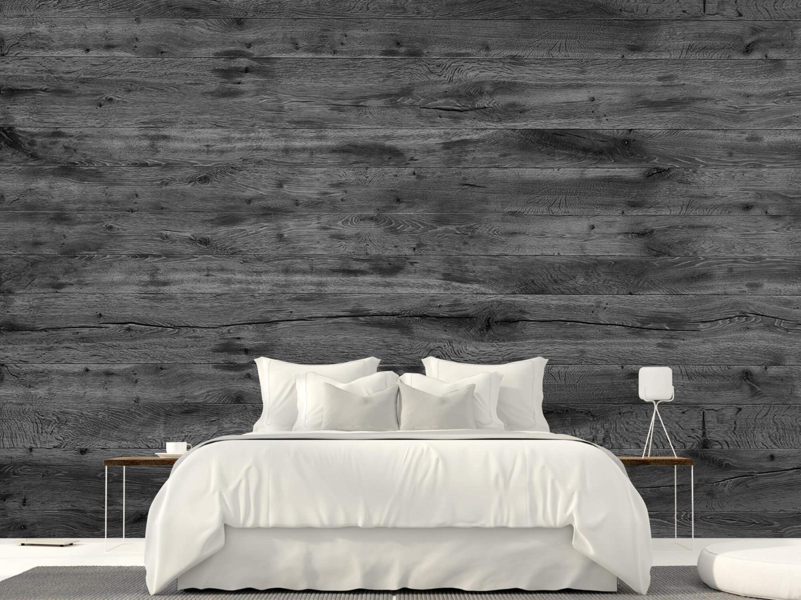 Hout behang - Grijze houten planken - Directie 24