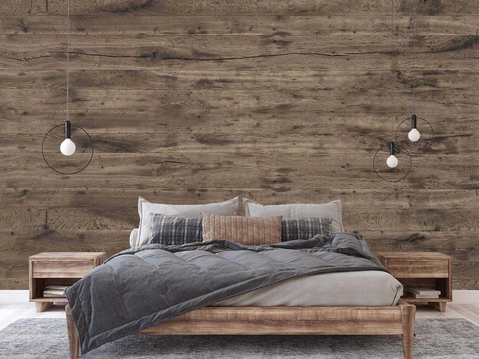 Hout behang - Rustieke houten planken - Garage 2
