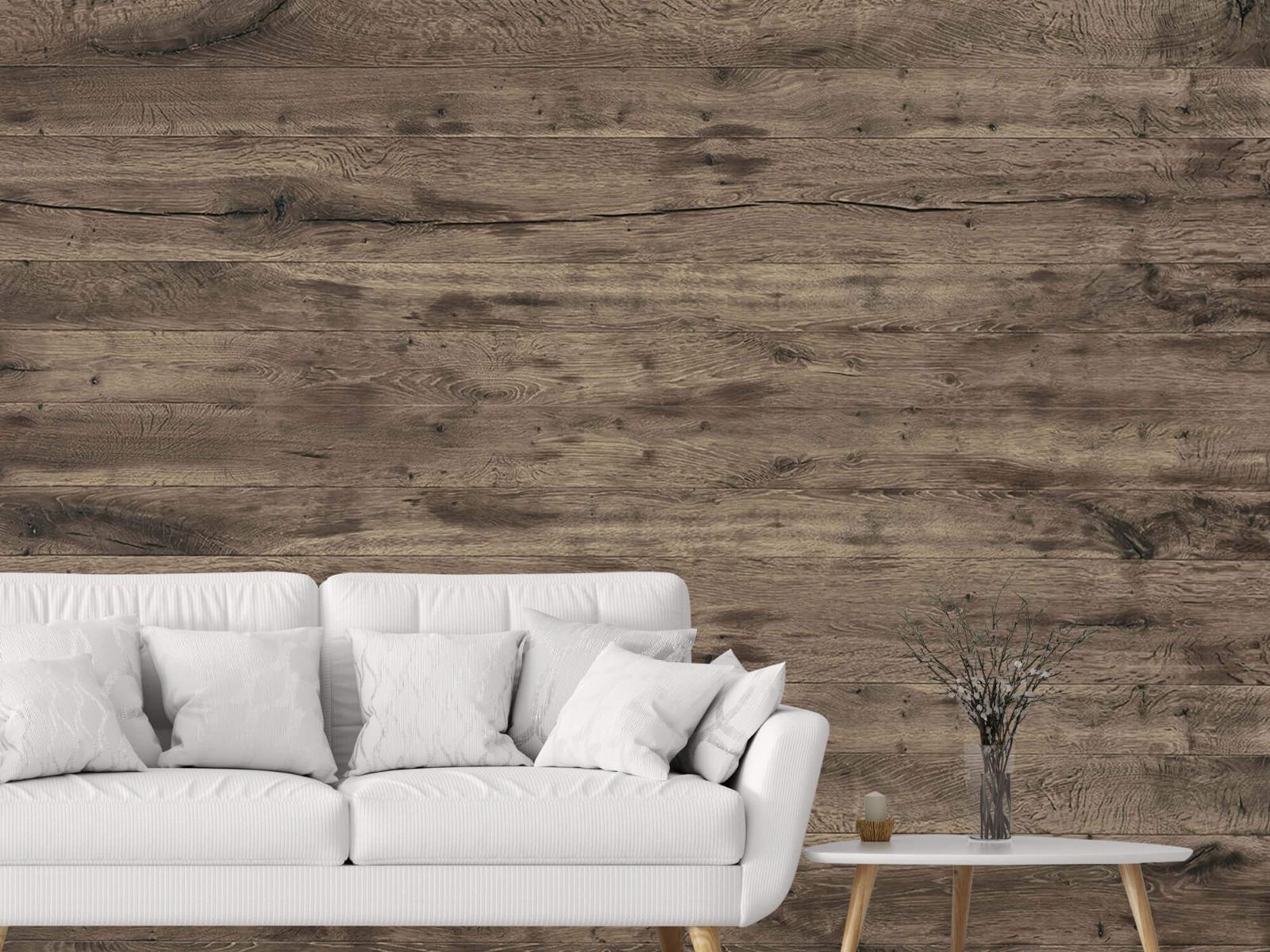Hout behang - Rustieke houten planken - Garage 3