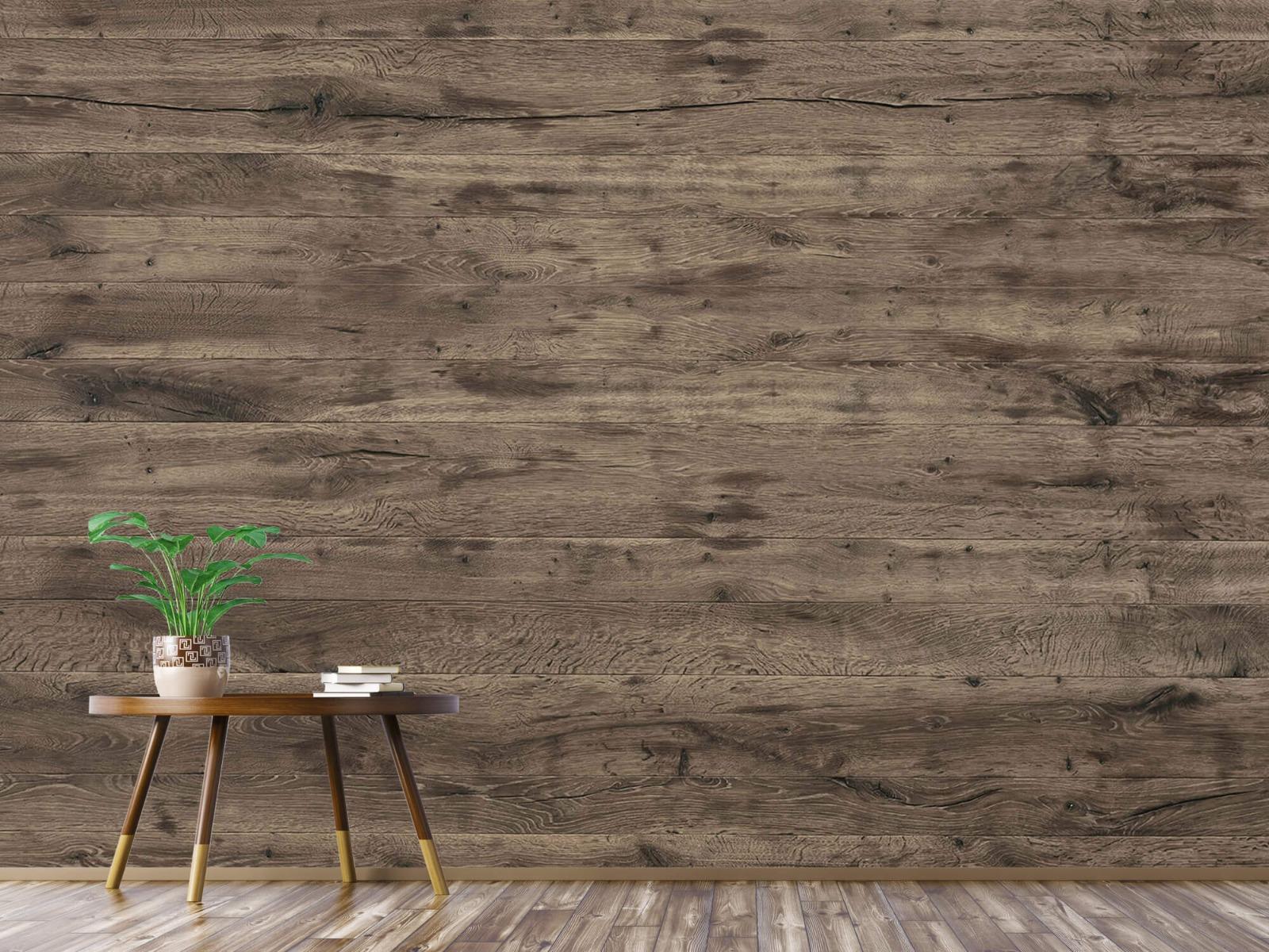 Hout behang - Rustieke houten planken - Garage 4