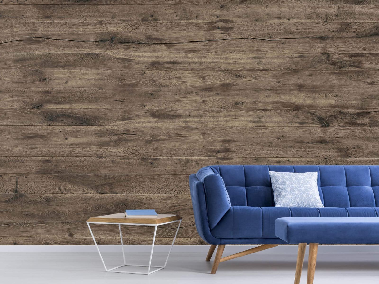 Hout behang - Rustieke houten planken - Garage 5