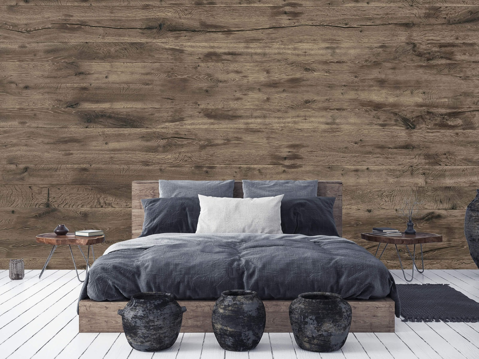 Hout behang - Rustieke houten planken - Garage 6