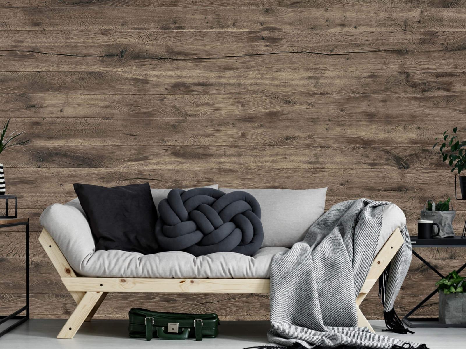 Hout behang - Rustieke houten planken - Garage 7