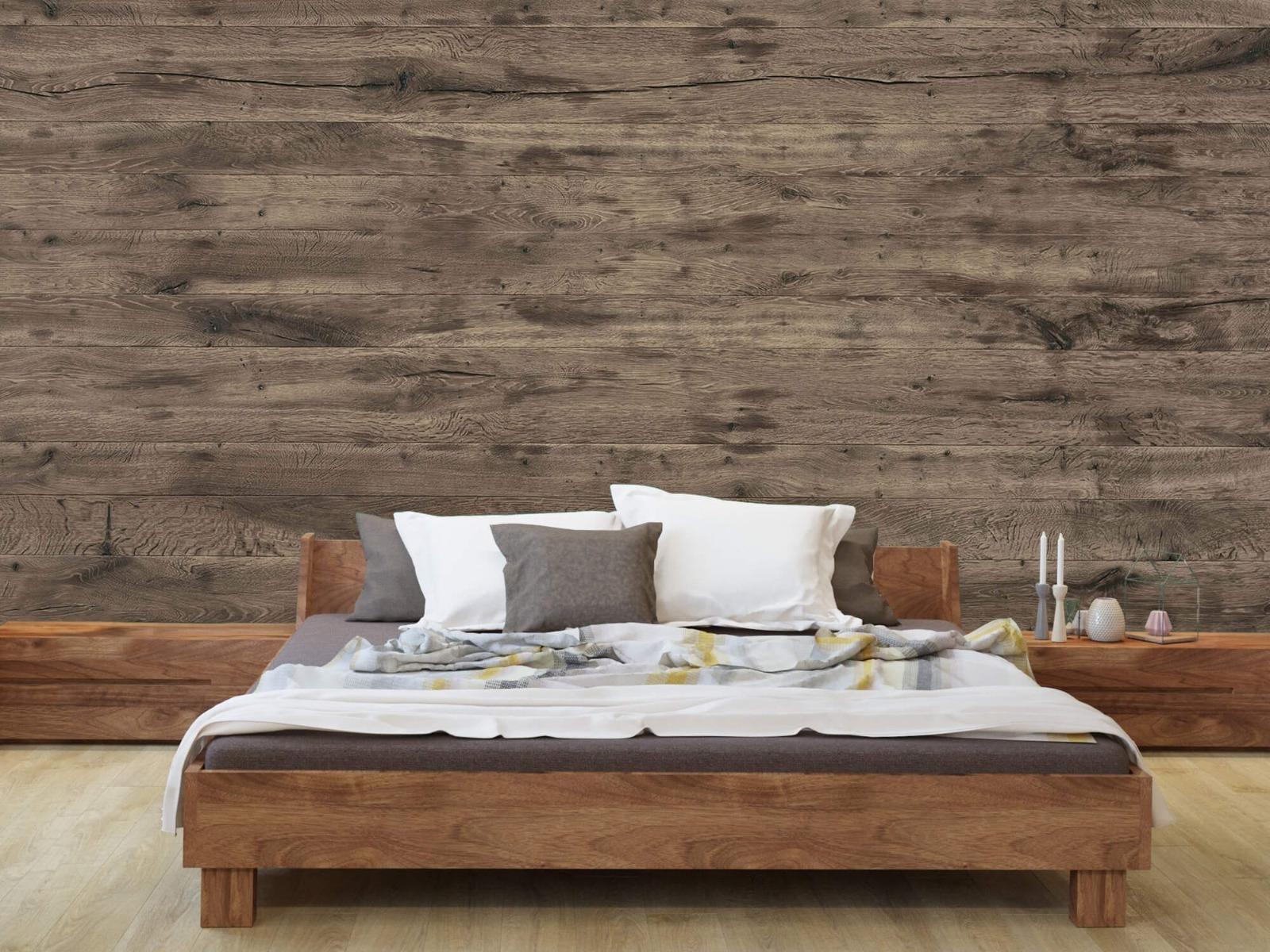 Hout behang - Rustieke houten planken - Garage 8