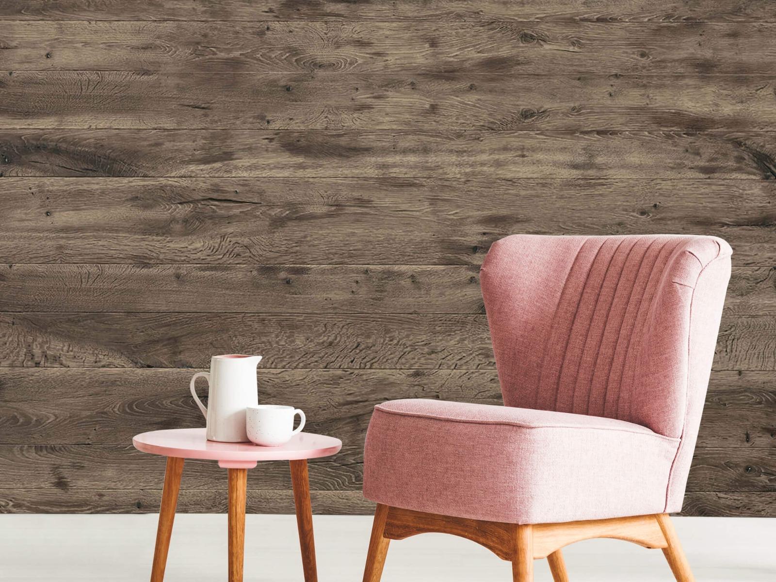 Hout behang - Rustieke houten planken - Garage 9