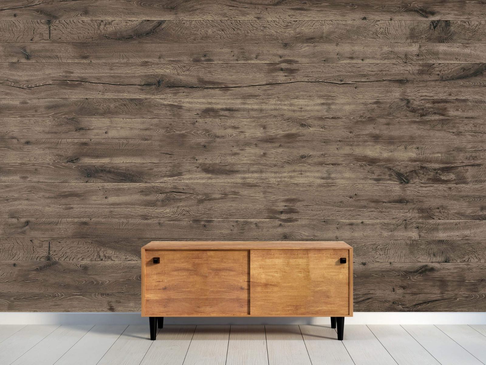 Hout behang - Rustieke houten planken - Garage 10