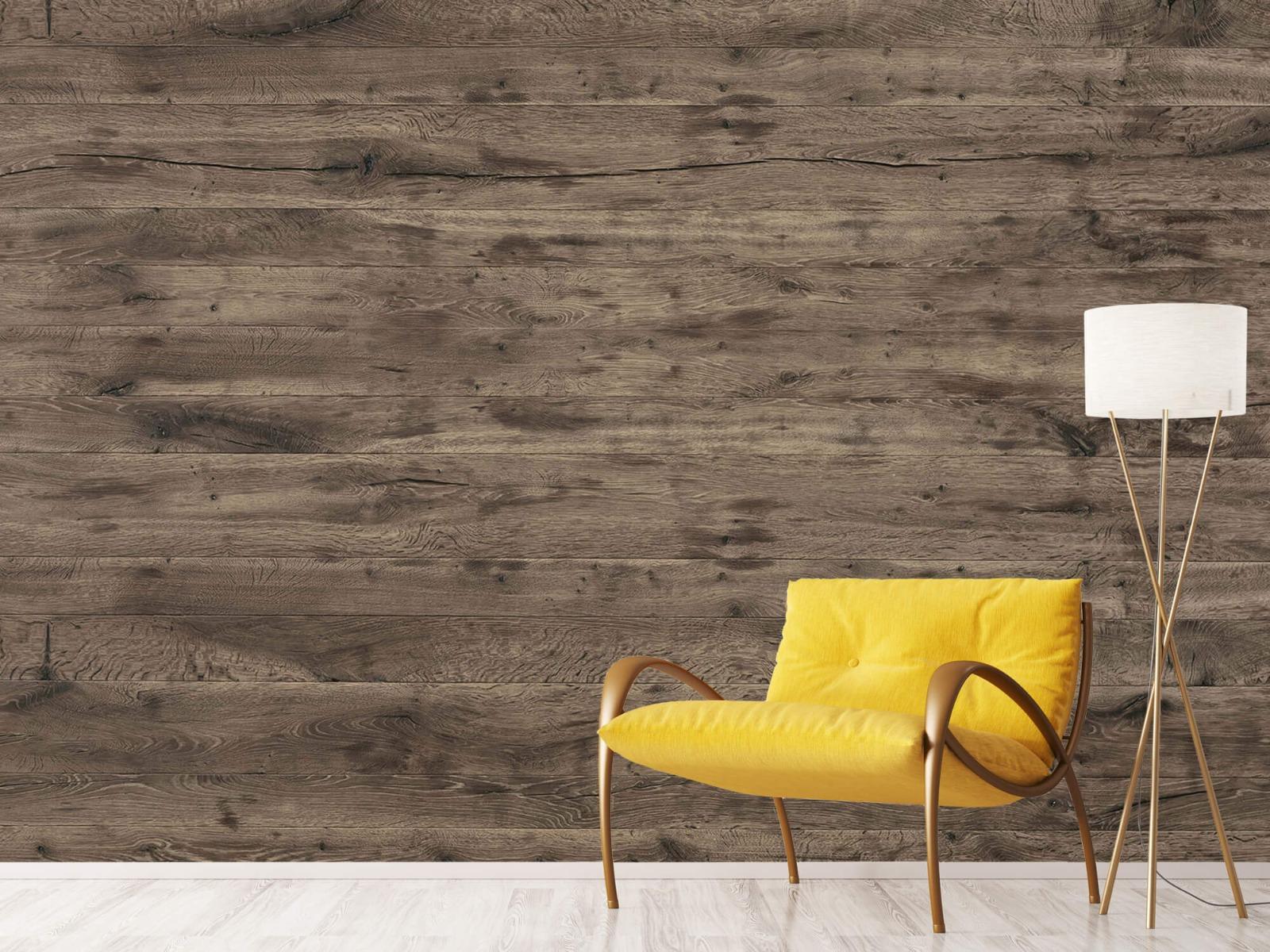 Hout behang - Rustieke houten planken - Garage 11