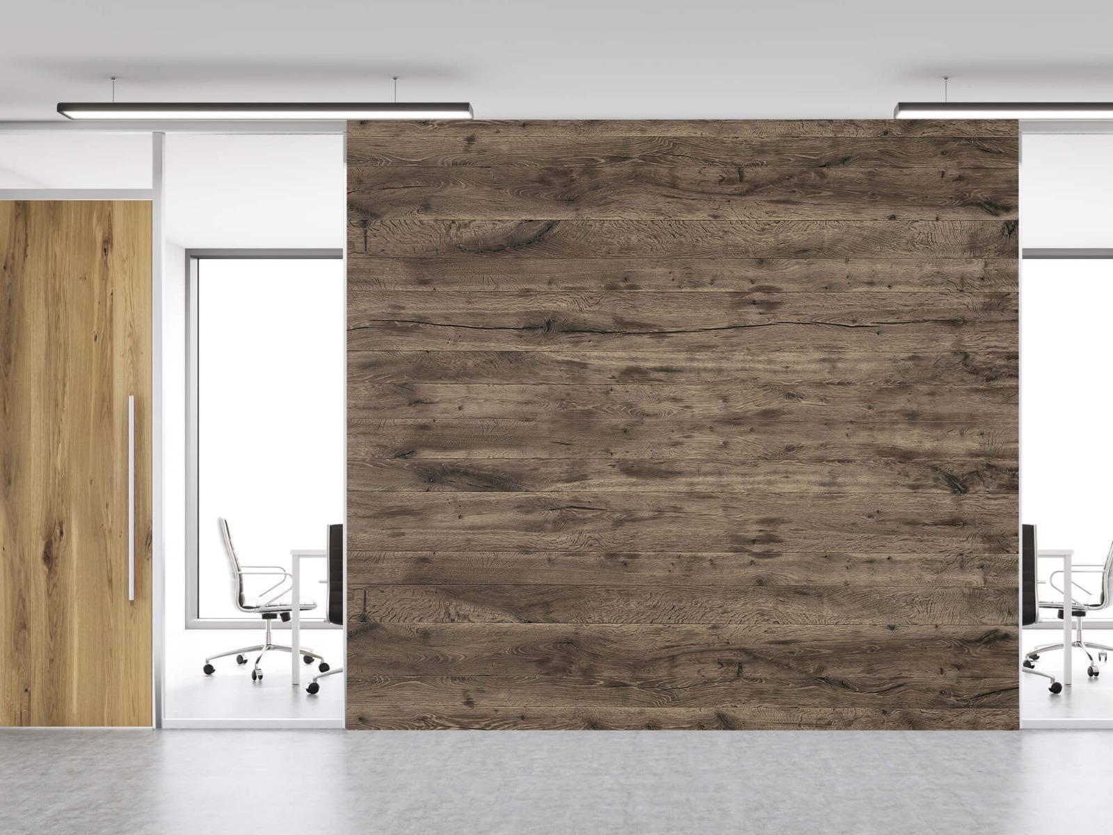 Hout behang - Rustieke houten planken - Garage 1