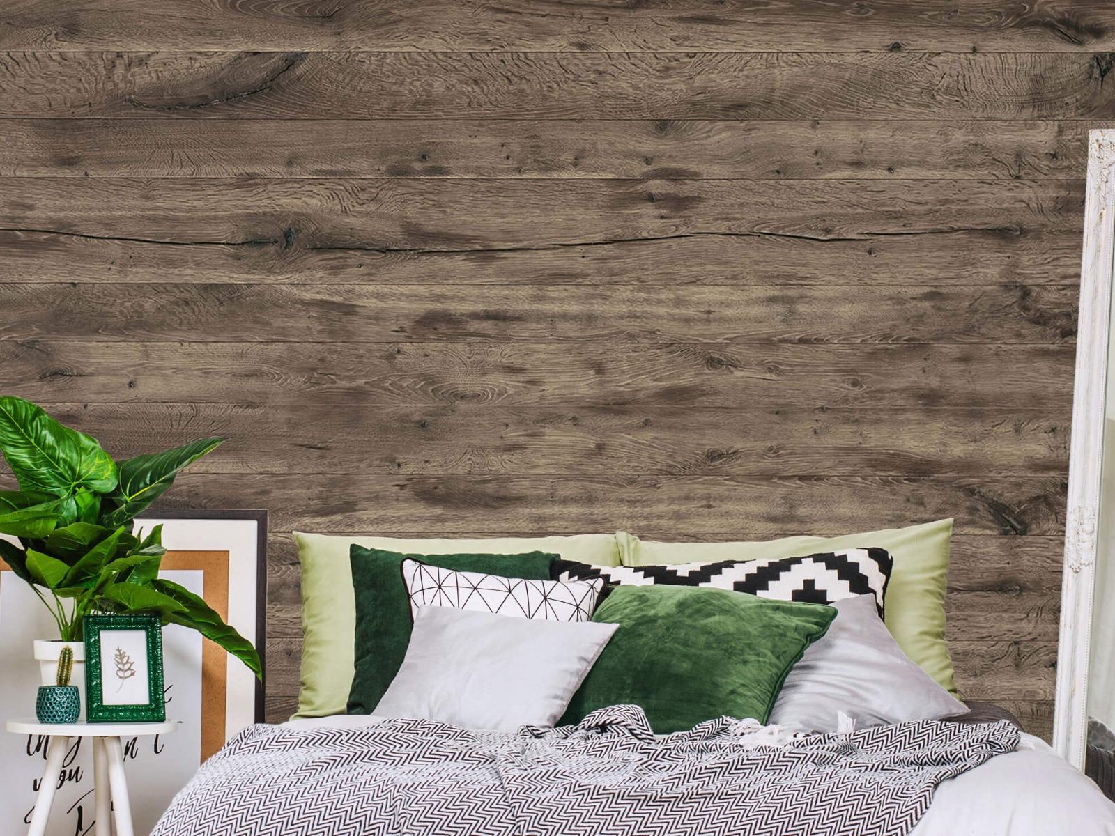 Hout behang - Rustieke houten planken - Garage 12