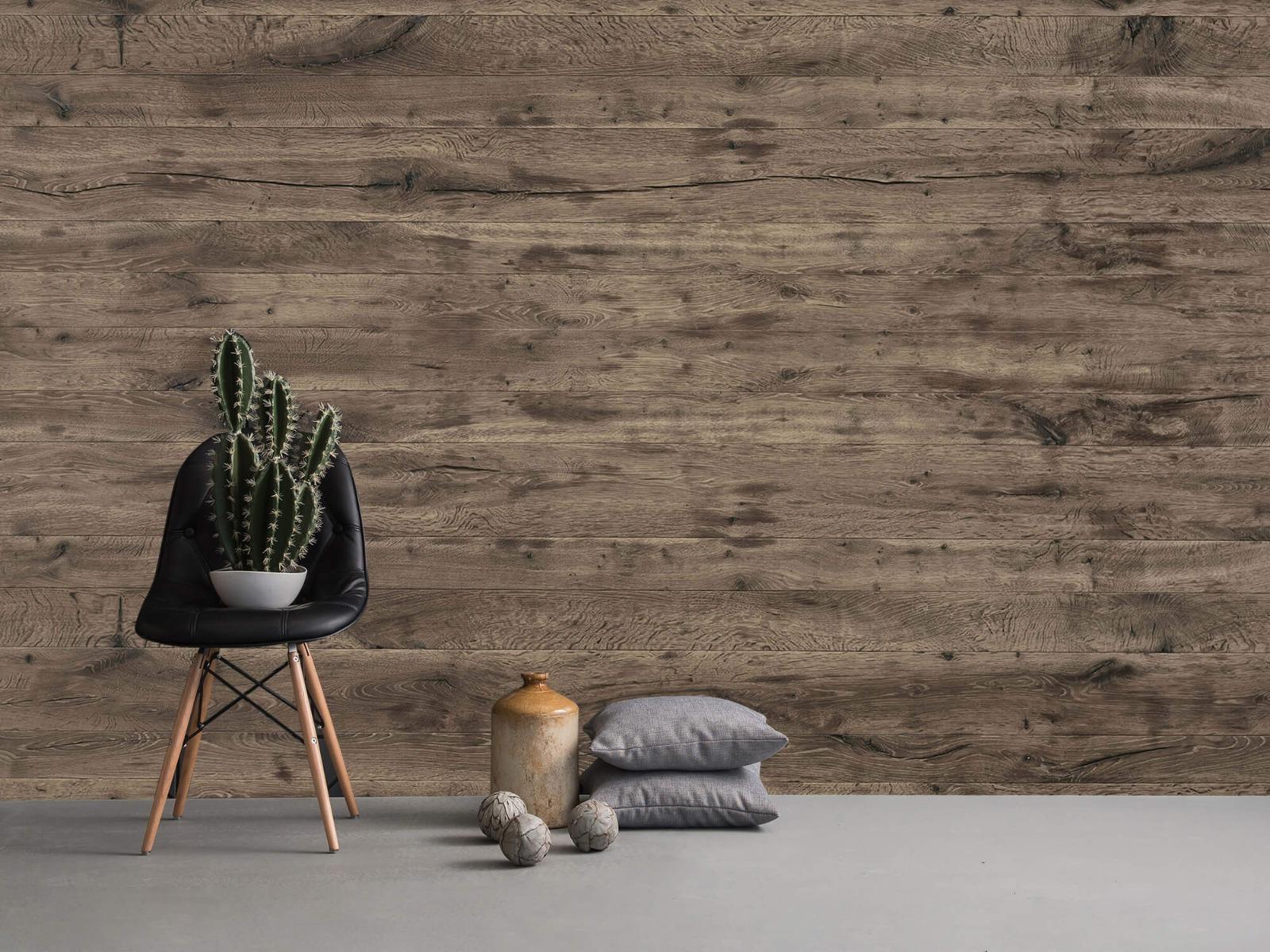 Hout behang - Rustieke houten planken - Garage 13