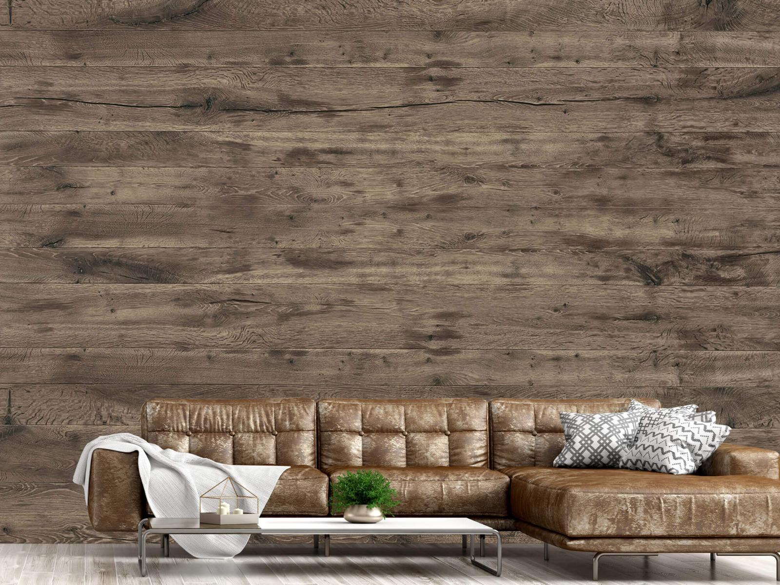 Hout behang - Rustieke houten planken - Garage 14