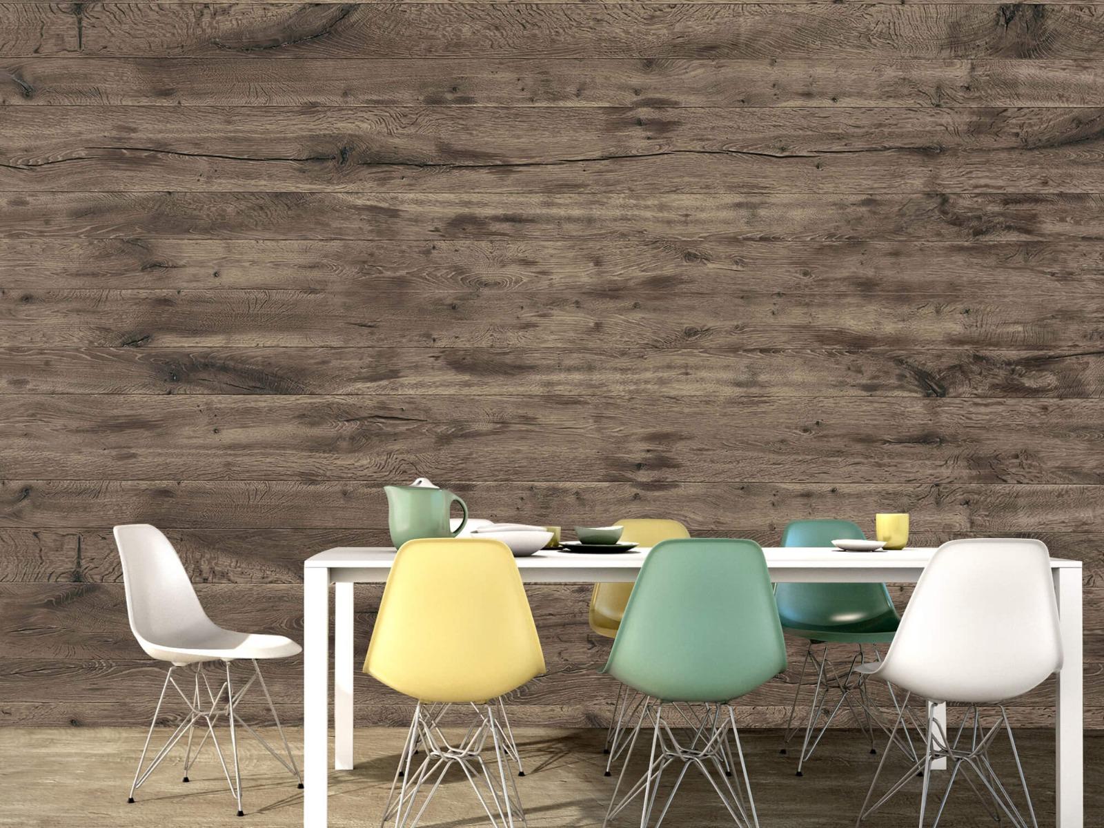 Hout behang - Rustieke houten planken - Garage 15