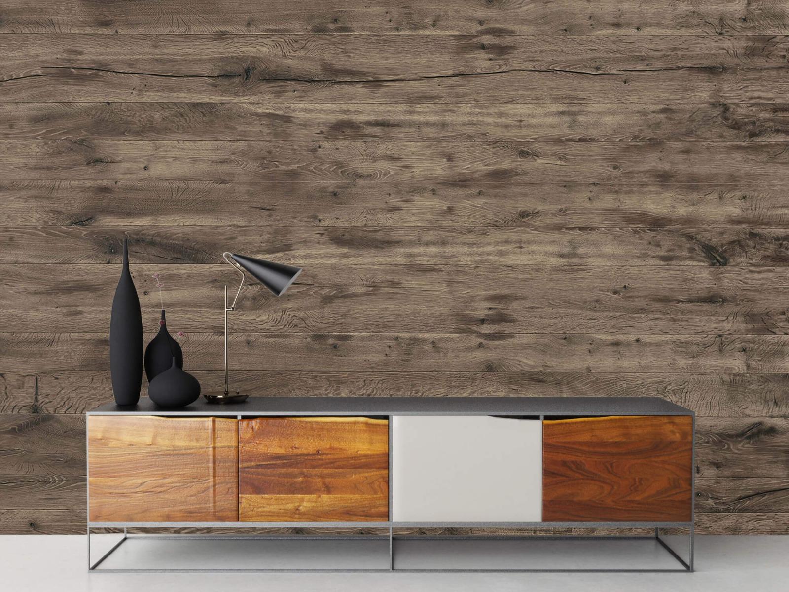 Hout behang - Rustieke houten planken - Garage 16