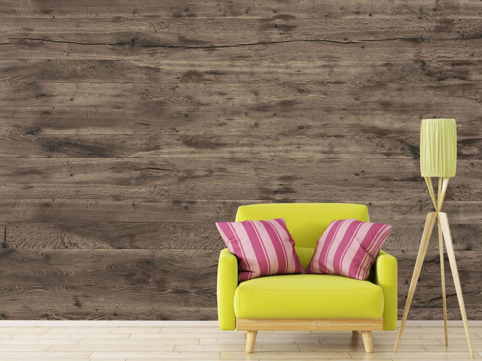 Hout behang - Rustieke houten planken - Garage 17