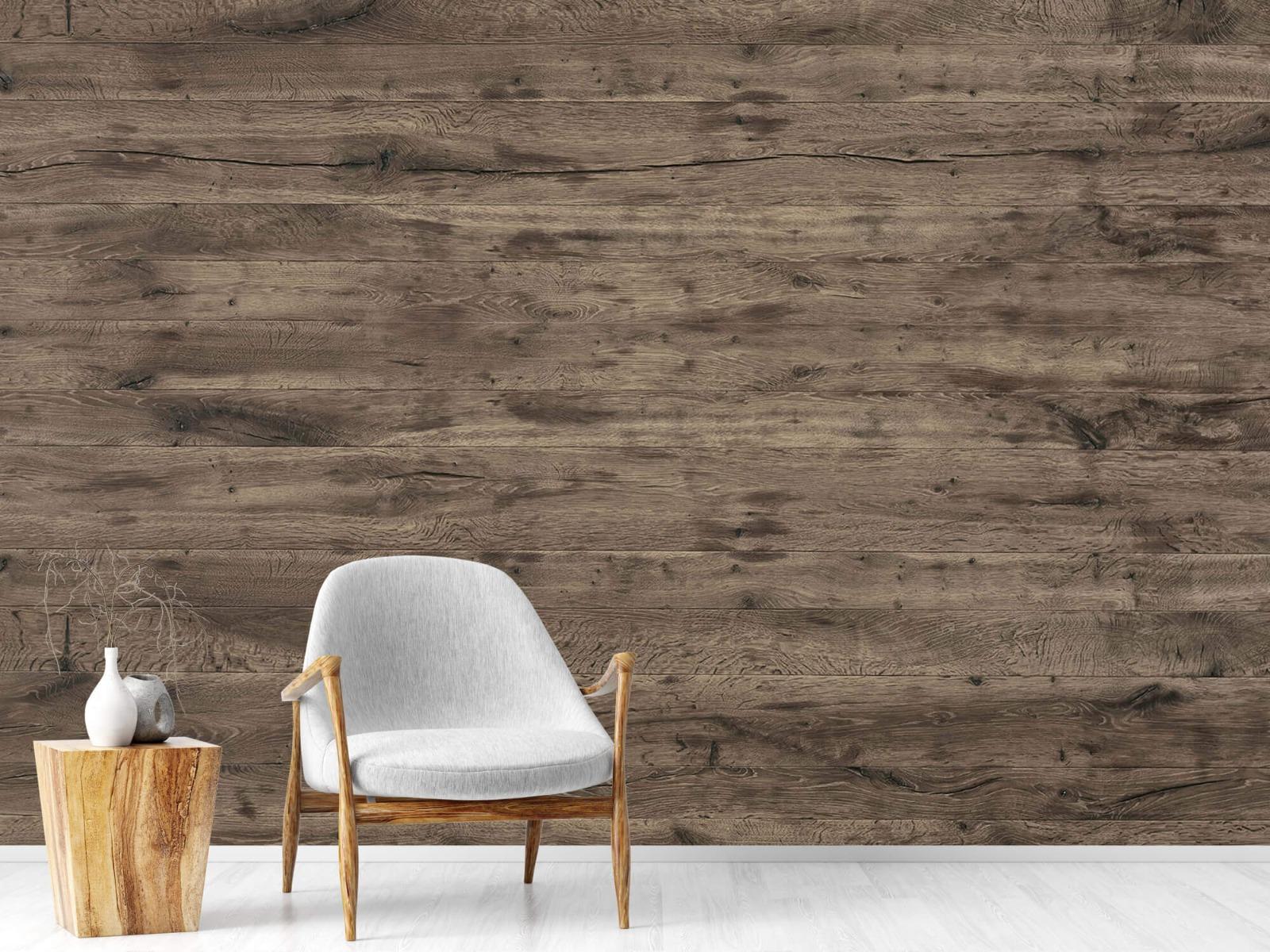 Hout behang - Rustieke houten planken - Garage 18