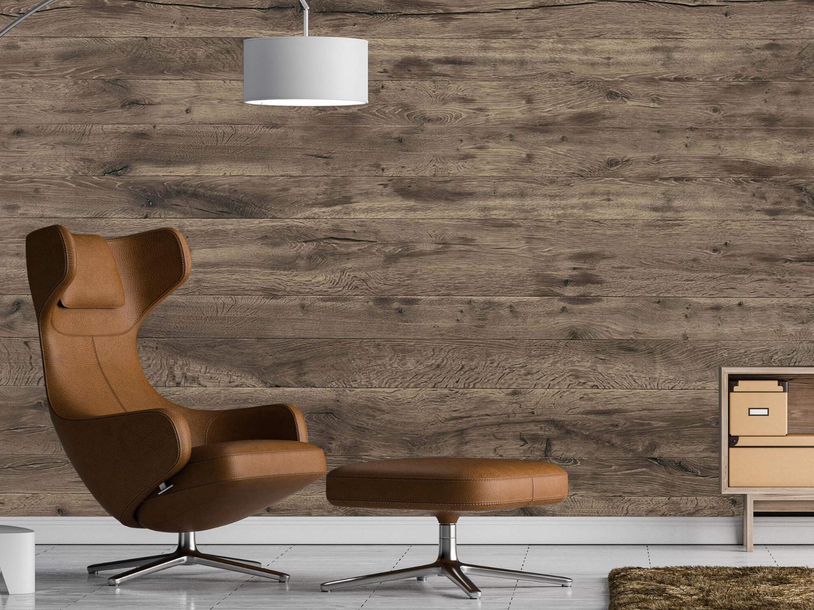 Hout behang - Rustieke houten planken - Garage 19