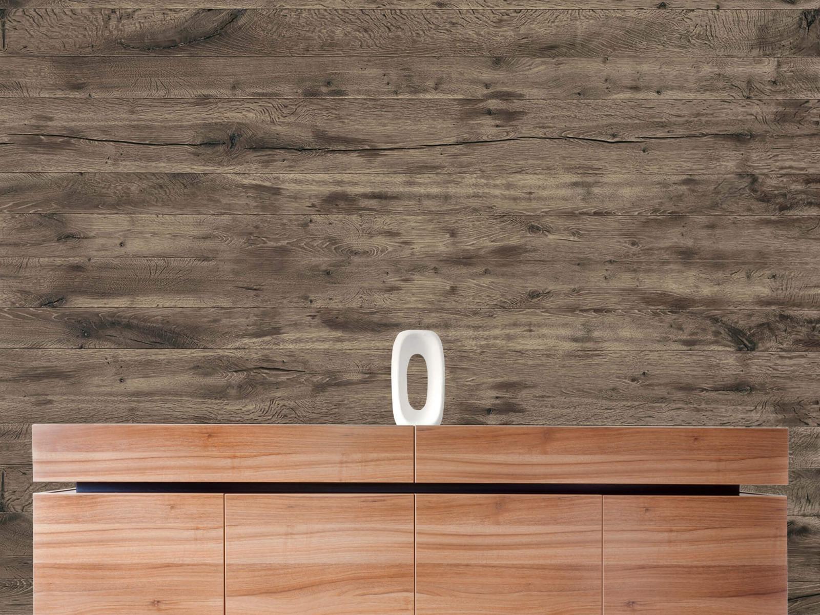 Hout behang - Rustieke houten planken - Garage 20