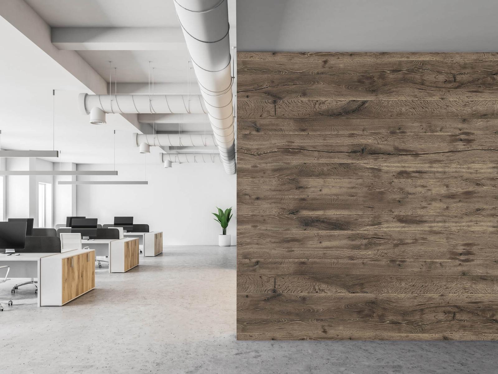 Hout behang - Rustieke houten planken - Garage 21