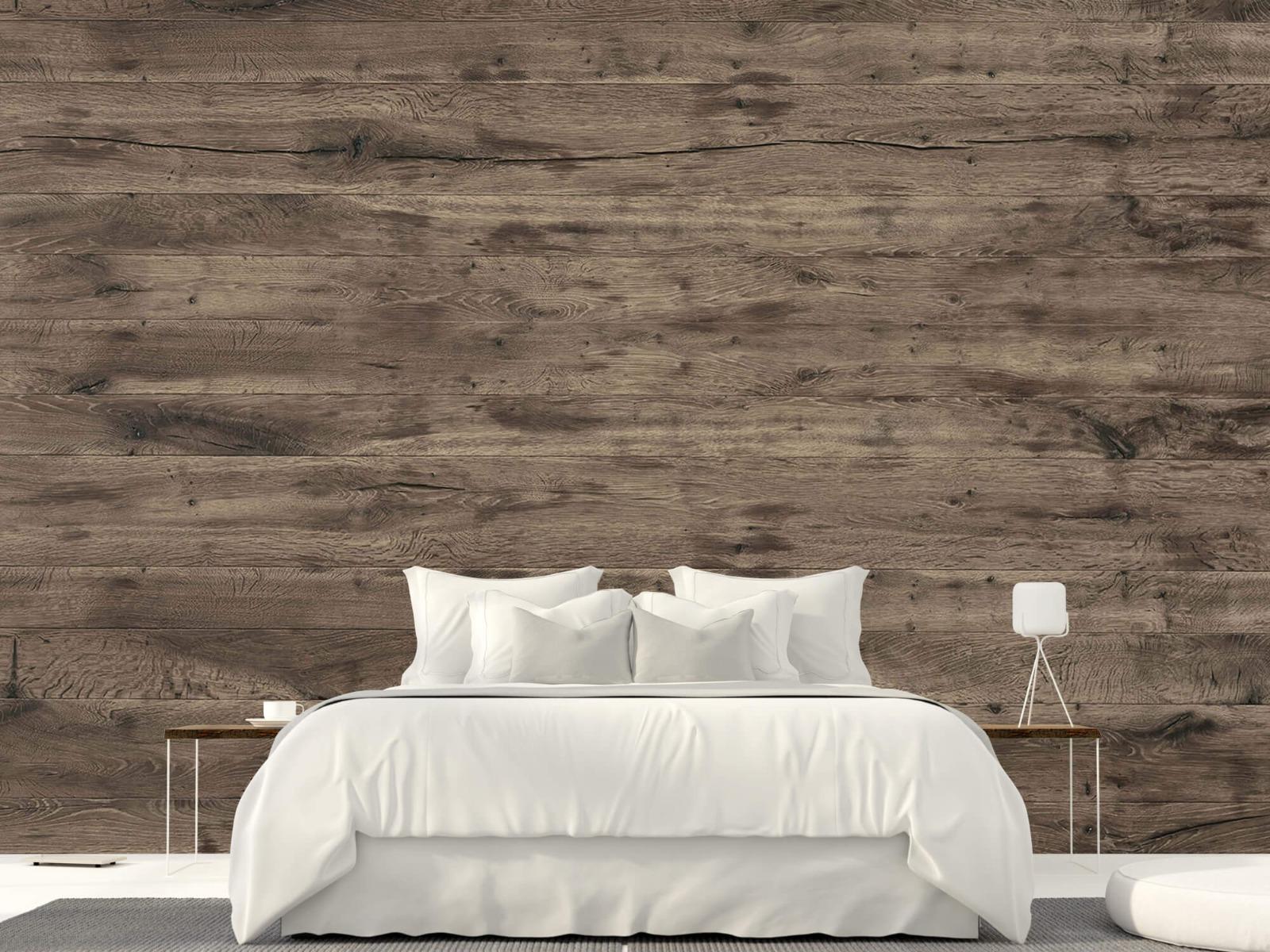 Hout behang - Rustieke houten planken - Garage 23