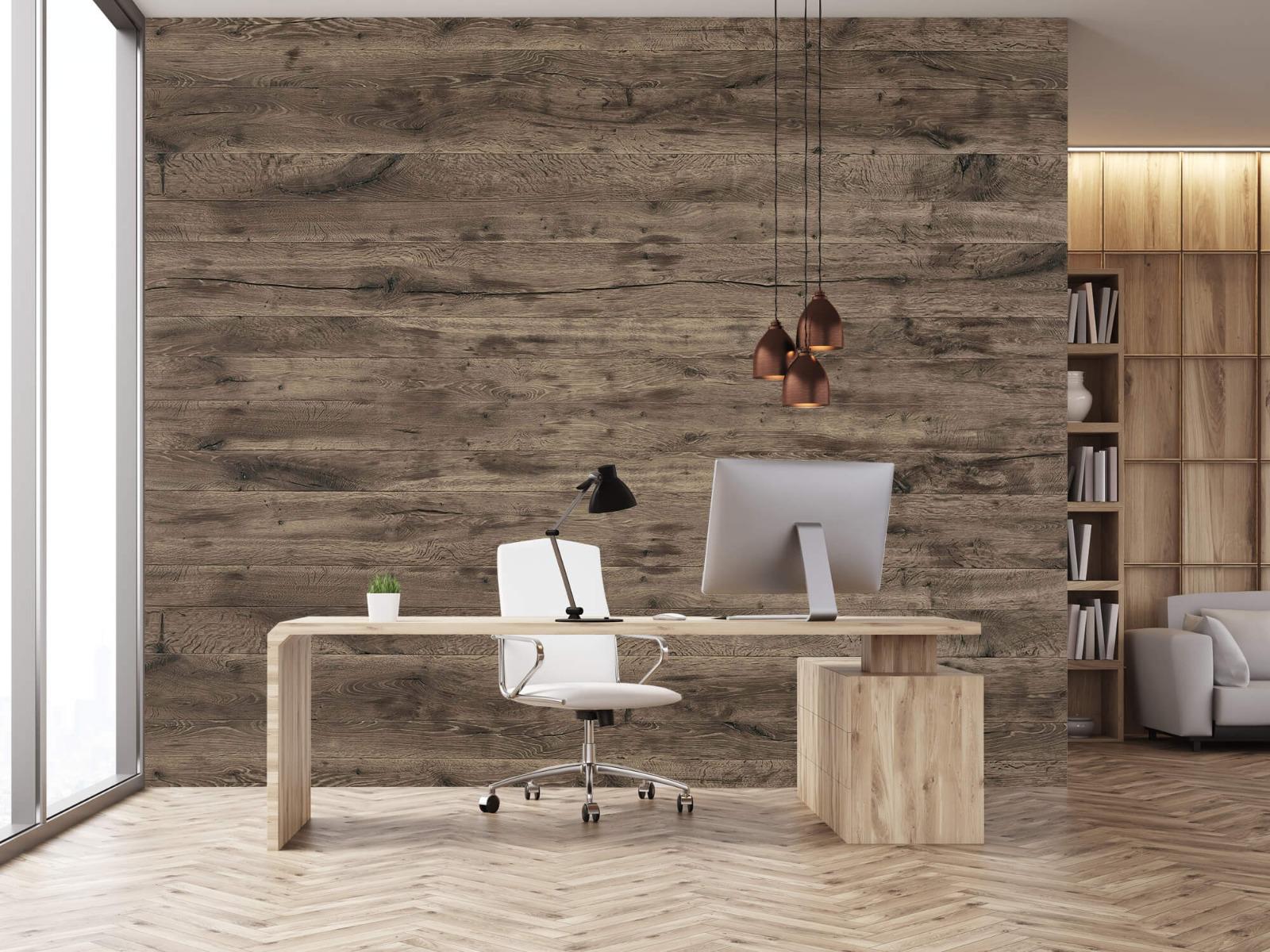 Hout behang - Rustieke houten planken - Garage 24