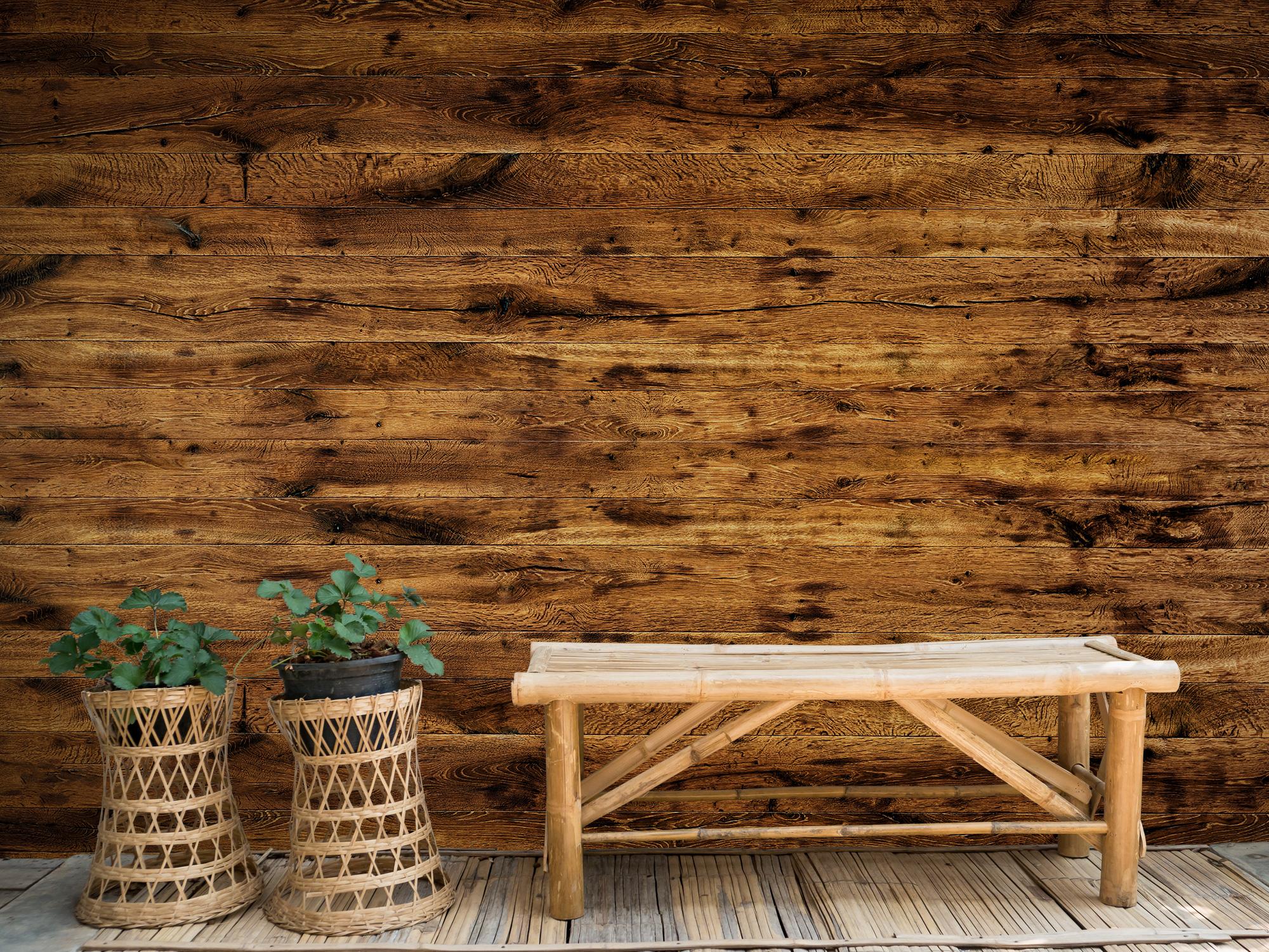 Hout behang - Gebruikt oud hout - Woonkamer 2