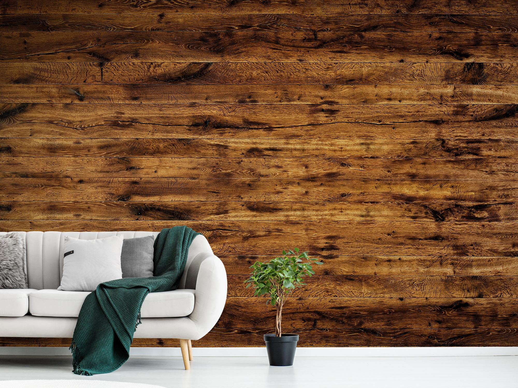 Hout behang - Gebruikt oud hout - Woonkamer 9