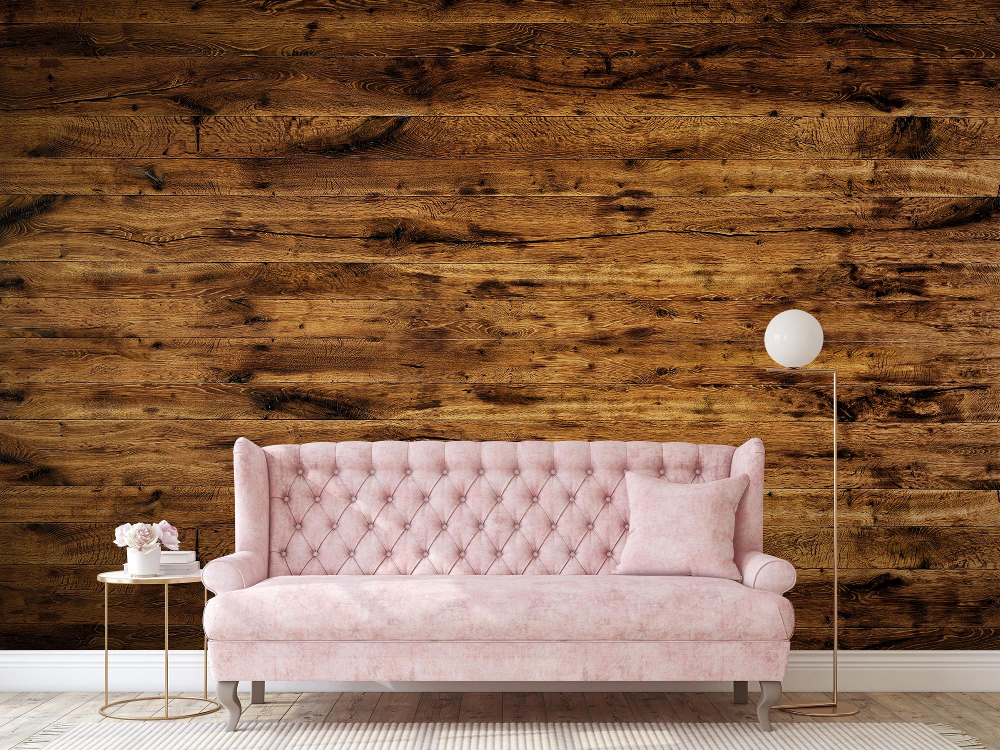 Hout behang - Gebruikt oud hout - Woonkamer 10