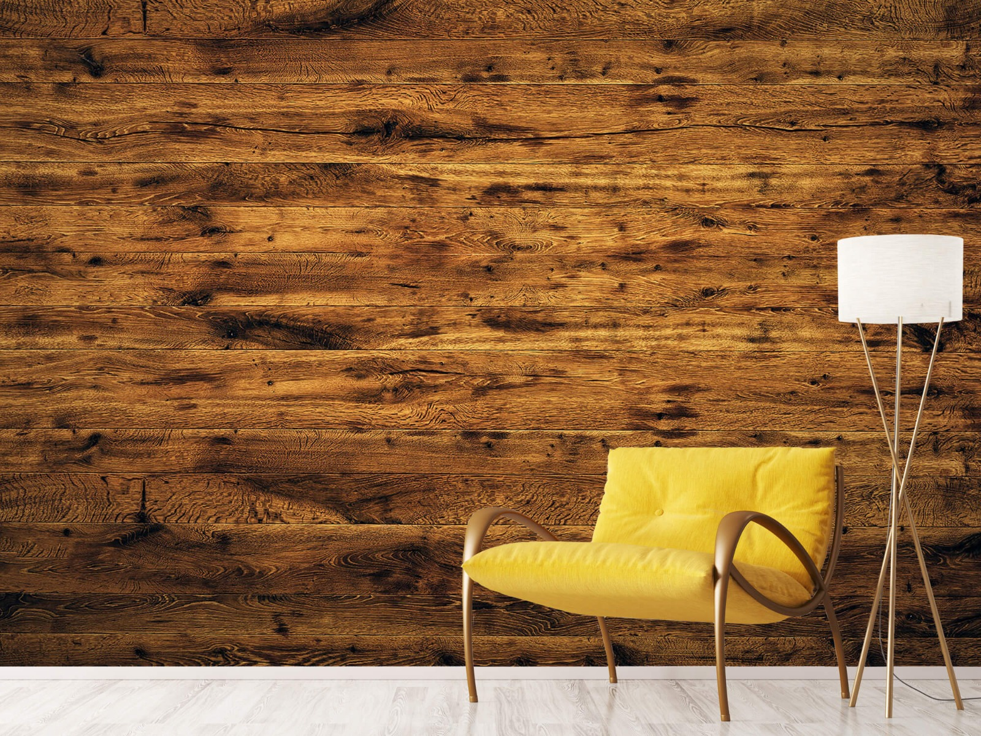 Hout behang - Gebruikt oud hout - Woonkamer 11