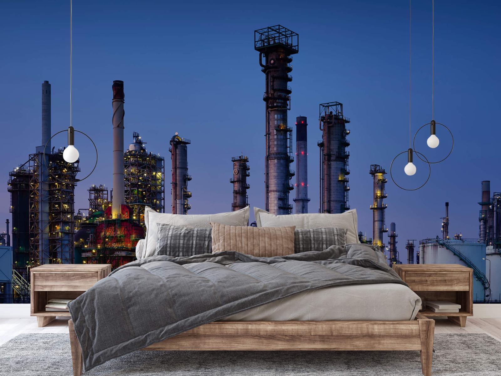 Steden behang - Industrie Botlek - Hobbykamer 1