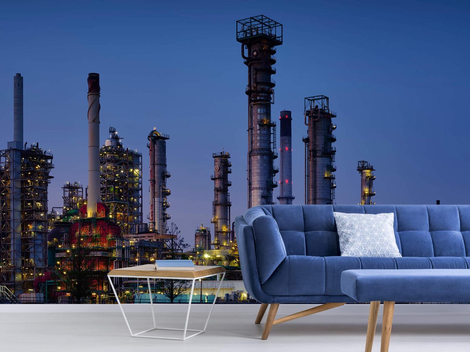 Steden behang - Industrie Botlek - Hobbykamer 4