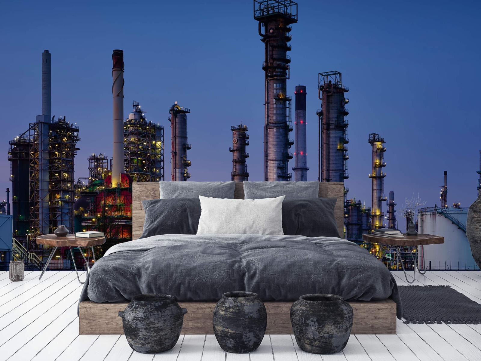 Steden behang - Industrie Botlek - Hobbykamer 5