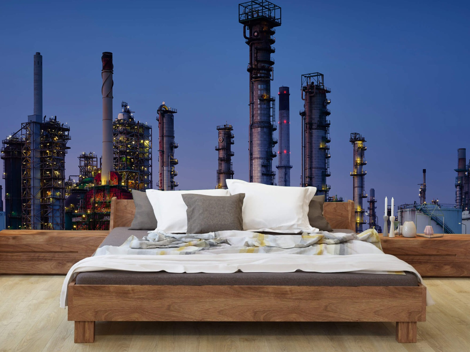 Steden behang - Industrie Botlek - Hobbykamer 7