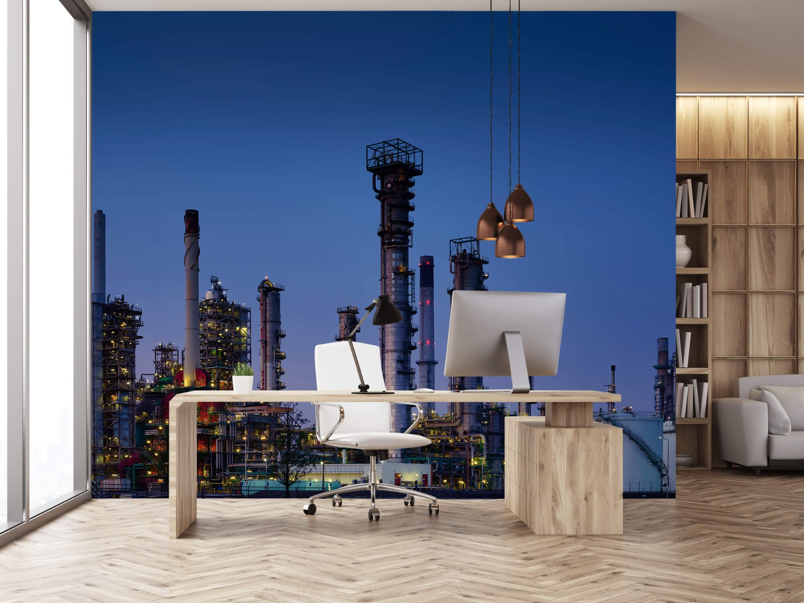 Steden behang - Industrie Botlek - Hobbykamer 24