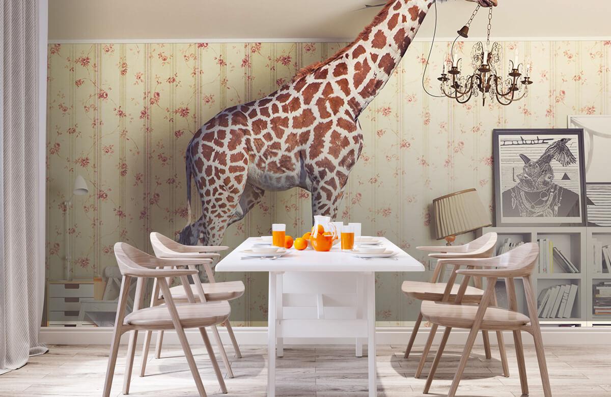 3D Giraffe in de woonkamer 1