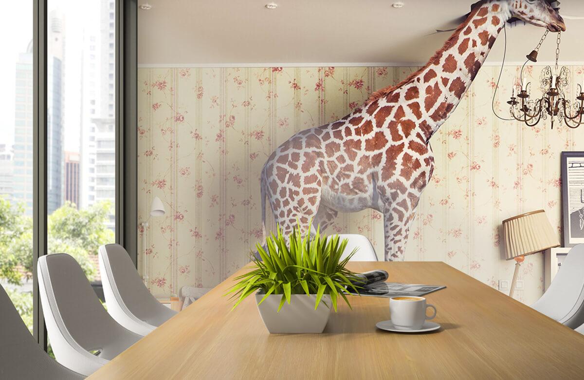 3D Giraffe in de woonkamer 2