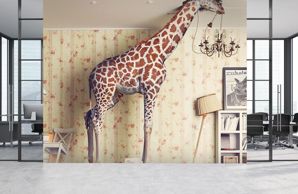 3D Giraffe in de woonkamer 3