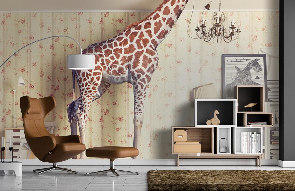 3D Giraffe in de woonkamer 4
