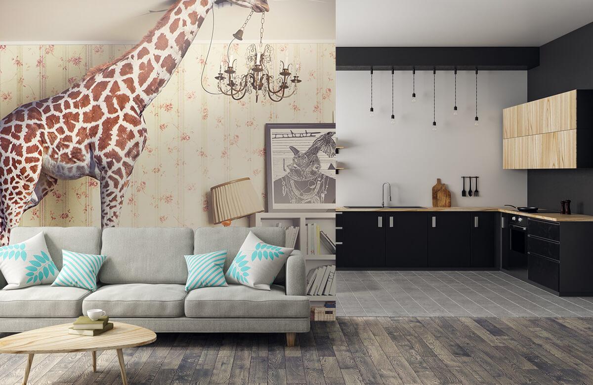 3D Giraffe in de woonkamer 5