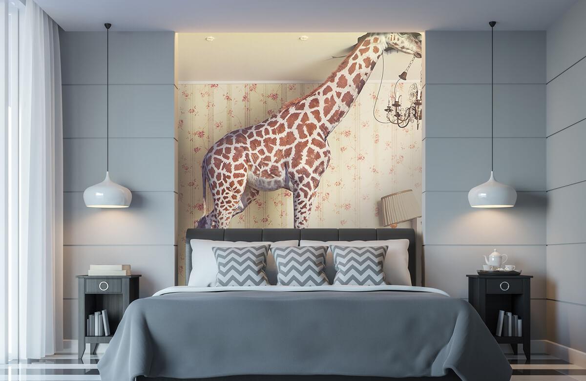 3D Giraffe in de woonkamer 8