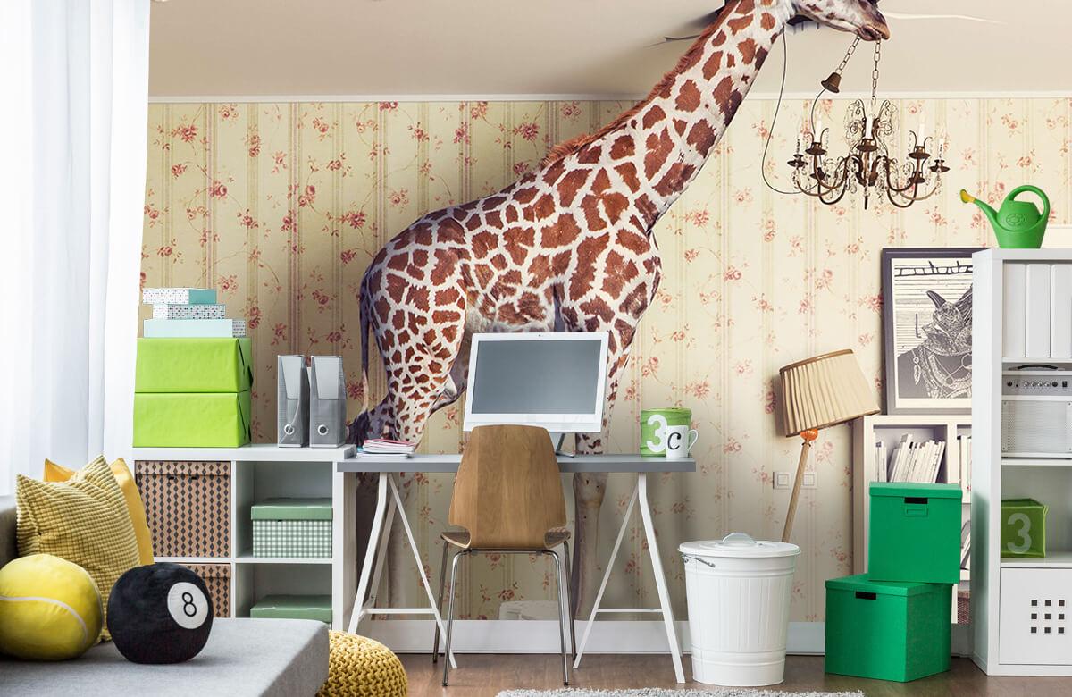 3D Giraffe in de woonkamer 9