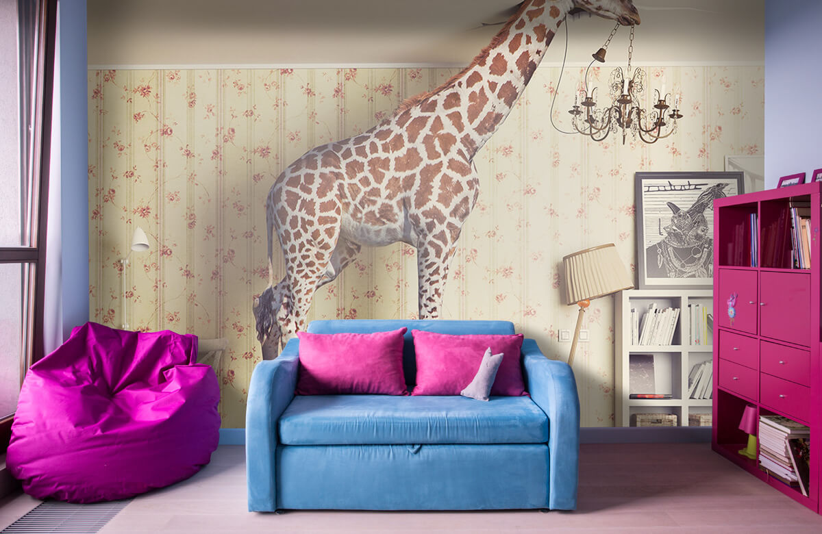 3D Giraffe in de woonkamer 10