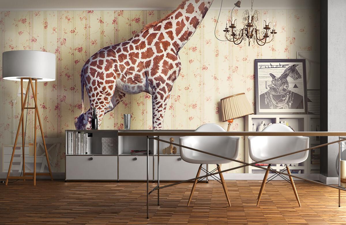 3D Giraffe in de woonkamer 11