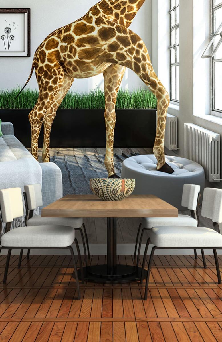 Dieren - Glurende giraffe - Kantoor 7